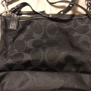Coach black travel bag